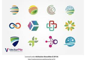 Gemengde Logo Vector Ontwerp Elementen