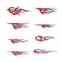 grafische tribal voertuig, grafisch voertuig ontwerp van de vlam voertuig vector