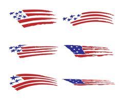 Amerika vlag voertuig grafische vector illustratie set