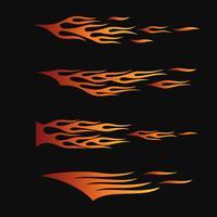 vuurvlammen in tribale stijl voor tattoo, voertuig en t-shirt decoratie ontwerp. Voertuiggraphics, Stripe, Vinyl Ready-verzamelset