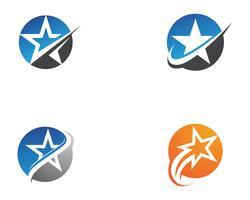Ster Logo Template vector pictogram illustratie ontwerp