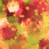 water kleur autum achtergrond vector