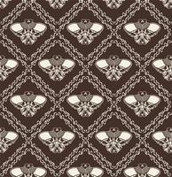 Sierschedel Naadloos Patroon - Vector