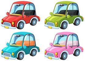 Een reeks van kleurrijke auto