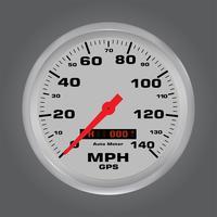 3d snelheidsmeters met metaalkader
