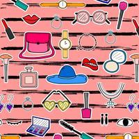 Patroon met hand getrokken Fashion Design elementen achtergrond. Handgemaakte vectorillustratie. vector