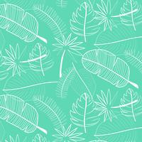 Blad patroon achtergrond. Hand getrokken vectorillustratie.