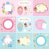 Set van schattige babygrens