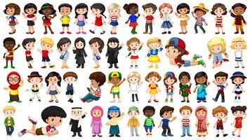 Set van multiculturele karakter