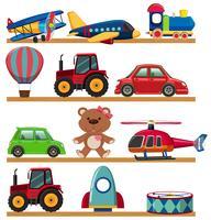 Jong kinderenstuk speelgoed op plank