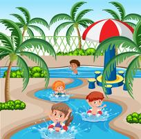 Kinderen in het waterpark