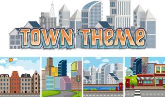Het thema van de stad