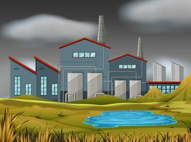 Een natuur fabriekscène