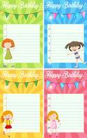 Set van verjaardag notitie