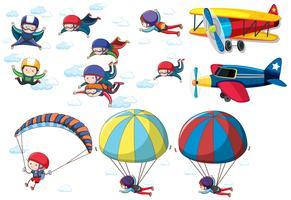 Een reeks activiteiten in de lucht vector