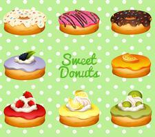 Verschillende smaak van donuts vector