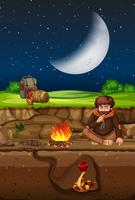 Man camping en slang undergound scène