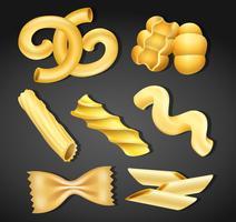 Een reeks pasta-variëteiten vector