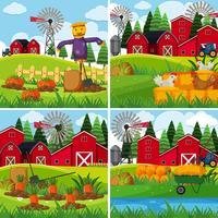 Verse groenten op de boerderijen vector
