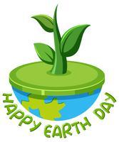 Happy earth day-logo vector