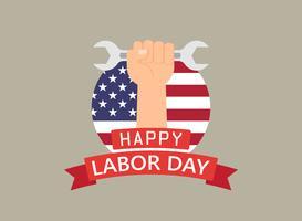 Gelukkige dag van de arbeid vakantie banner sjabloon achtergrond vector