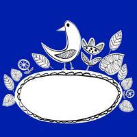 Eenvoudige Scandinavische vogels patroon primitieve vector