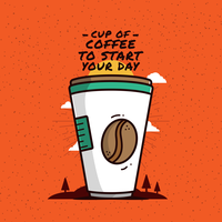 Koffie Clipart Vector