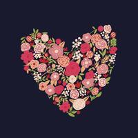 hand getrokken floral vector achtergrond