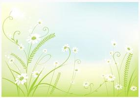Swirly Spring Background Vector