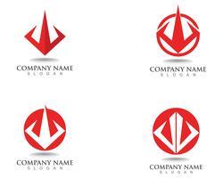 Magische trident logo en symbolen sjabloon vector