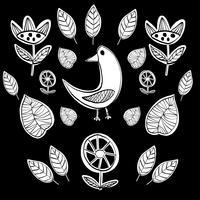 Eenvoudige Skandinavische minimalistische vector van de patroon primitieve naïeve stijl