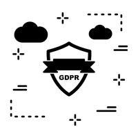 Vector GDPR-beveiligingsschild pictogram