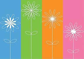 Abstract 3D geschetst bloemen Vector