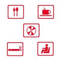 eten en drinken pictogram logo ontwerp vectorillustratie