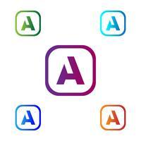Letter A Abstracte creatieve logo sjabloon vectorillustratie