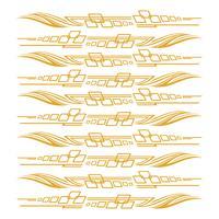 Auto Bike Voertuig Graphics, Vinyls Decals vector illustratie