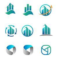 boekhouding, financiën, bedrijfslogo vastgestelde vectorillustratie vector