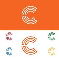 Letter C Set Logo sjabloon vector illustratie klaar gebruik voor technologie