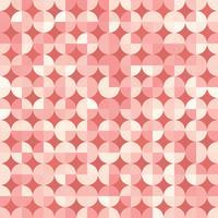 Naadloos geometrisch patroon in retro stijl. Vector herhalende achtergrond met geometrische vormen voor textielontwerp, inpakpapier, scrapbooking.