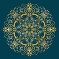 Vector Mandala-ornament. Vintage decoratieve elementen. Oosters rond patroon. Islam, Arabisch, Indiaas, Turks, pakistan, Chinees, Ottomaanse motieven. Hand getekend floral achtergrond.