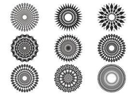 Decoratieve Zonneschijnvectoren vector