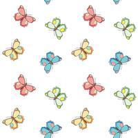 Vlinder naadloos patroon. Herhalende vlinder achtergrond voor textiel ontwerp, inpakpapier, behang, scrapbooking.