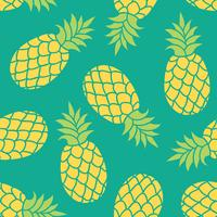 Ananas vector achtergrond. Zomer kleurrijke tropische textieldruk.