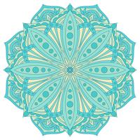 Etnisch decoratief ontwerpelement. Kleurrijk vectormandalasymbool. Rond abstract bloemenornament.