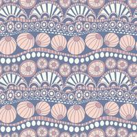 Abstract kleurrijk krabbelpatroon. Hand getrokken doodle patroon voor textielontwerp, inpakpapier, scrapbooking. Naadloos vectorkrabbelpatroon.