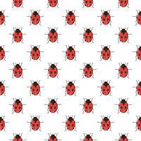 Lieveheersbeestje naadloos patroon. Lieveheersbeestje herhalende achtergrond voor behang, onmiddellijke verpakking