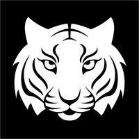 Tijger pictogram. Vectorillustratie voor logo-ontwerp, t-shirt afdrukken. Tijgermascotte.