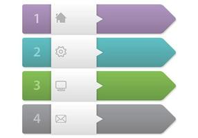 Pijl Label Banner Vector Set