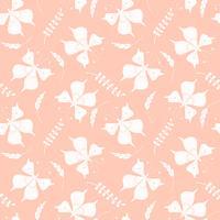 Vector naadloos patroon met vlinders en bloemenelementen.