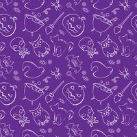 Vector naadloos patroon met Halloween-ontwerpelementen.